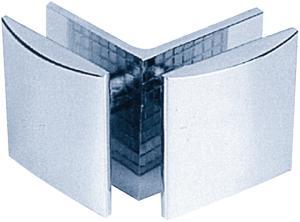 Beschlag C  45 x 45 mm  Glas/Glas 90°