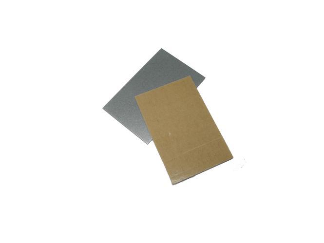 Haftbleche 70 x 45 x 1mm, glatt, selbstklebend