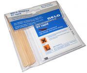 Delo 2-Komponenten-Kleber, Miniwerkstatt mit 5 x 3g Kleber, 5 x Holzspatel