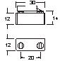 Magnetschließer Edelstahl gespiegelt 30x12mm