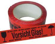 """Warnband """"Vorsicht Glas"""", 50mm x 66m"""