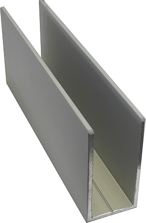 Asre shop u profile 40x20x40x2mm 5m asre glass and - Profile alu en u ...